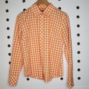 Vineyard Vines Orange Plaid Button Up Shirt